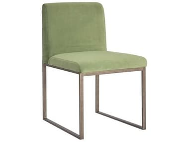 Phillips Collection Green / Silver Side Dining Chair PHCPH99961