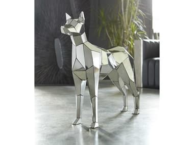 Phillips Collection Silver Crazy Cut Dog Sculpture PHCPH97073