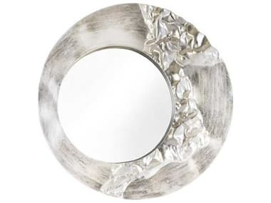 Phillips Collection Silver Leaf 39'' Wide Round Wall Mirror PHCPH88068