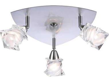 PLC Lighting Avatar Satin Nickel 12'' Wide Three-Light Spot Light PLC6071SN