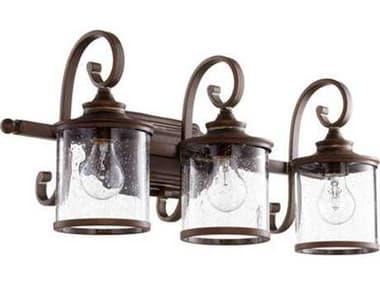 Quorum International San Miguel Vintage Copper Three-Light Vanity Light QM5073339
