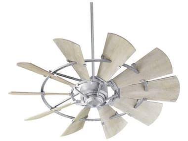 Quorum International Windmill Galvanized 52'' Wide Indoor Ceiling Fan with Weathered Oak Blades QM952109