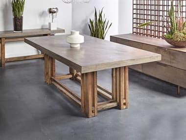 Sonder Distribution Conrad Concrete & Reclaimed Pine 84''W x 42''D Rectangular Dining Table RD0701318