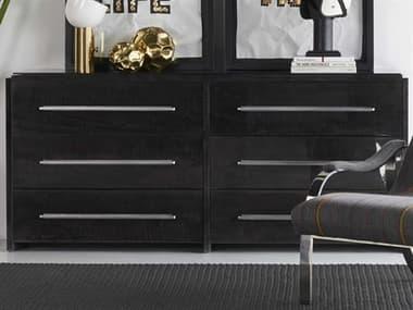 Sonder Distribution Black / Silver 6 Drawers Double Dresser RD1504029