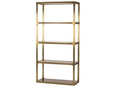 Sonder Distribution Evans Bronze Glass with Stain Brass Etagere RD0804100