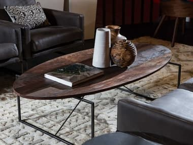 Sonder Distribution Georgina Peroba 60''W x 30''D Oval Coffee Table RD0701306