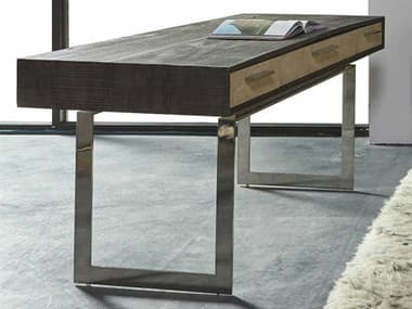 Sonder Distribution Latham Peroba with Textured Resin Faux Shagreen 72''W x 28''D Rectangular Computer Desk RD0701316