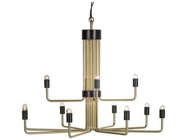 Sonder Distribution Le Marais Polished Brass With Matte Black 12 45'' Wide Medium Chandelier RD1007225