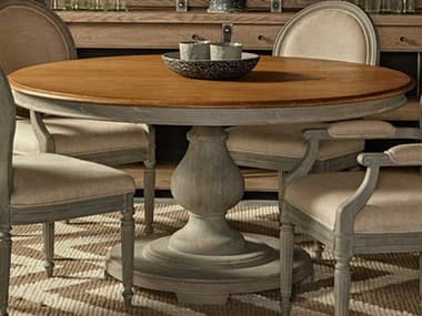 Sonder Distribution Nichole Honey Oak with Swedish Blue 60'' Wide Round Dining Table RD0801164
