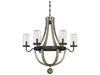 Savoy House Eden Weathervane Six-Light 29'' Wide Outdoor Pendant Light with Clear Glass and Metal Candle Cover SV12100670