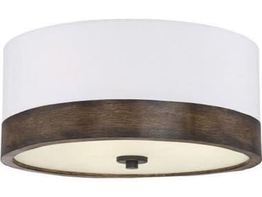 Savoy House Meridian Walnut Wood Three-Light 18'' Wide Flush Mount Light SVM60030WWD