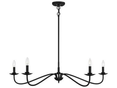 Savoy House Meridian Matte Black Five-Light 42'' Wide Large Chandelier SVM10085MBK