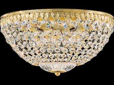 Schonbek Petit Crystal Five-Light Flush Mount Light S51562