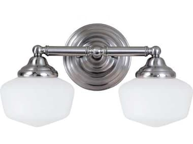 Sea Gull Lighting Academy Brushed Nickel Two-Light Wall Sconce SGL44437962