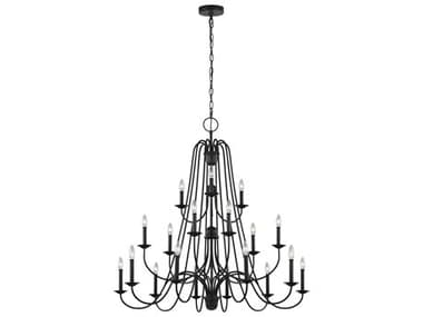 Sea Gull Lighting Boughton Antique Forged Iron 18 45'' Wide Large Chandelier SGLF320718AF