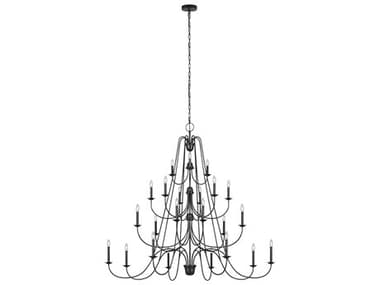 Sea Gull Lighting Boughton Antique Forged Iron 24 64'' Wide Large Chandelier SGLF320824AF