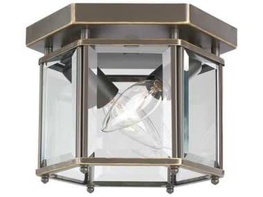 Sea Gull Lighting Bretton Heirloom Bronze 2 Glass Outdoor Ceiling Light SGL7647782
