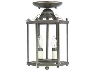Sea Gull Lighting Bretton Heirloom Bronze 2 Glass Semi-Flush Mount SGL5232782