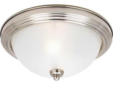 Sea Gull Lighting Ceiling Flush Mount Brushed Nickel 2 Glass Light SGL77064962