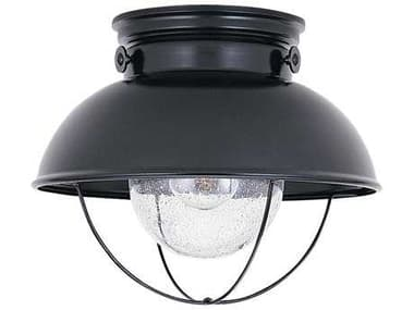 Sea Gull Lighting Sebring Black Outdoor Ceiling Light SGL886912