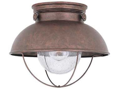Sea Gull Lighting Sebring Weathered Copper Outdoor Ceiling Light SGL886944