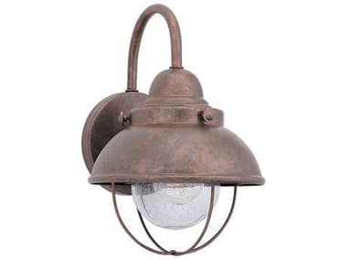 Sea Gull Lighting Sebring Weathered Copper 8'' Wide Outdoor Wall Light SGL887044
