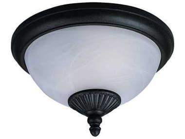 Sea Gull Lighting Yorktown Forged Iron 2 Glass LED Outdoor Ceiling Light SGL88048185