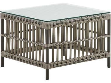 Sika Design Exterior Aluminum Moccachino Caroline 23'' Wide Square End Table SIKSDE426MC