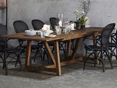 Sika Indoor Teak 78'' Wide Rectangular Dining Table SKA9474D