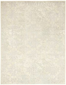 Solo Rugs Modern Ivory Rectangular Area Rug SOLM721979