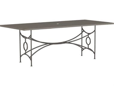 Summer Classics Superstone Tables 84'' Wide Aluminum Rectangular Dining Table SUM2020