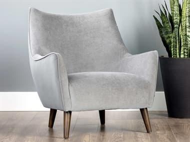 Sunpan Modern Home Grey / Brown Accent Chair SPN105463