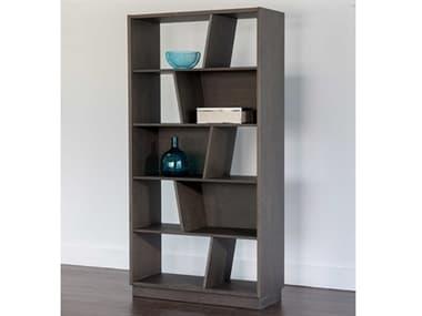 Sunpan Modern Home Artezia Grey 30'' Wide Bookcase SPN104604