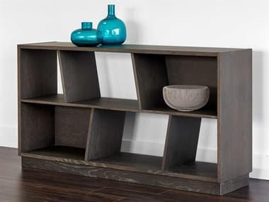 Sunpan Modern Home Artezia Grey 63'' Wide Bookcase SPN104605