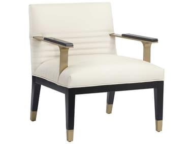 Sunpan Modern Home Club Dillon Cream / Black Gold Accent Chair SPN105138