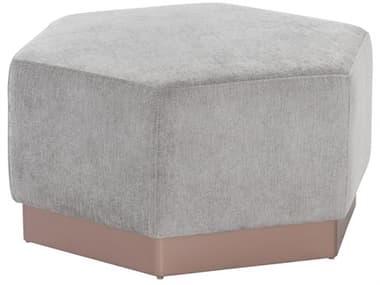 Sunpan Modern Home Club Polo Stone / Rose Gold Ottoman SPN104283