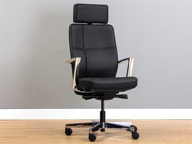 Sunpan Modern Home Black / Chrome Computer Chair SPN105905