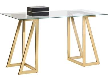 Sunpan Modern Home Gold Computer Desk SPN105606