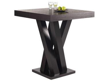Sunpan Modern Home Ikon Dark Espresso 35'' Wide Square Bar Height Dining Table SPN39872