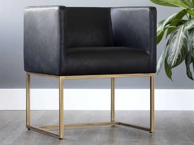 Sunpan Modern Home Irongate Vintage Black / Rustic Bronze Accent Chair SPN102767