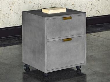 Sunpan Modern Home Mixt Grey / Antique Brass File Cabinet SPN105444