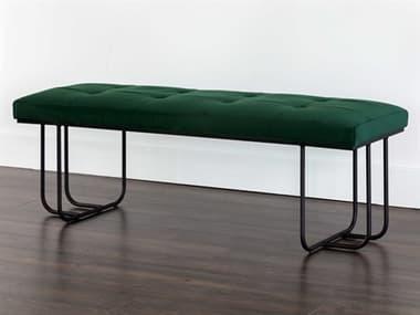 Sunpan Modern Home Mixt Clover Green / Black Accent Bench SPN105016