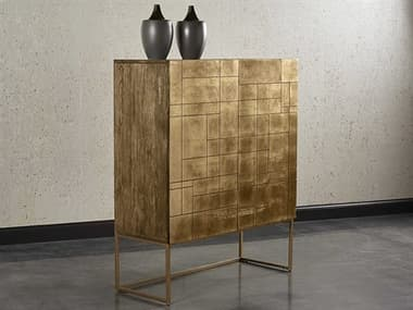 Sunpan Modern Home Mixt Gold / Antique Brass Bar Cabinet SPN104104