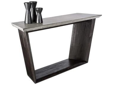 Sunpan Modern Home Mixt Dark Grey / Coffee Bean 60'' Wide Rectangular Console Table SPN100776