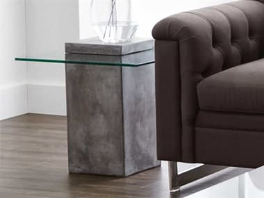 Sunpan Modern Home Mixt Anthracite Grey 21'' Wide Square End Table SPN47902