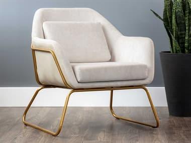 Sunpan Modern Home Urban Unity Polo Club Muslin / Bravo Cream Accent Chair SPN105326