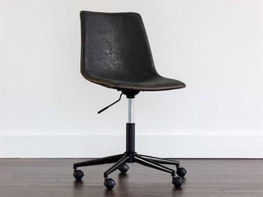 Sunpan Modern Home Urban Unity Antique Black Computer Chair SPN105579