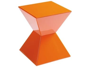 Sunpan Modern Home Urban Unity Orange 13'' Wide Square End Table SPN13009