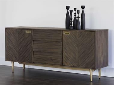 Sunpan Modern Home Zenn Brown / Antique Brass Buffet SPN102409