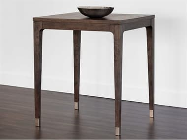 Sunpan Modern Home Zenn Brown 35'' Wide Square Bar Height Dining Table SPN104257